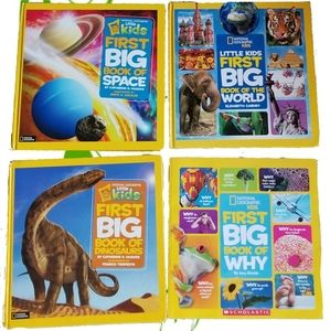 4 NATIONAL GEOGRAPHIC KIDS First Big Books Of...